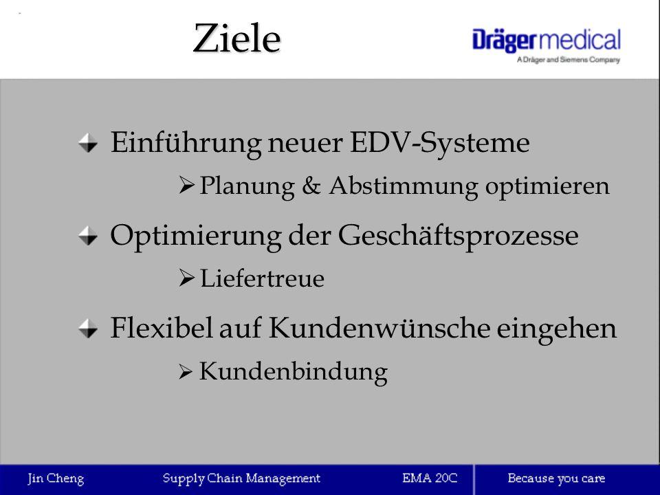 Ziele Einführung neuer EDV-Systeme Optimierung der Geschäftsprozesse