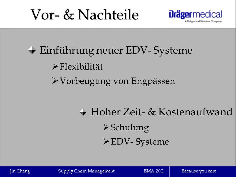Vor- & Nachteile Einführung neuer EDV- Systeme