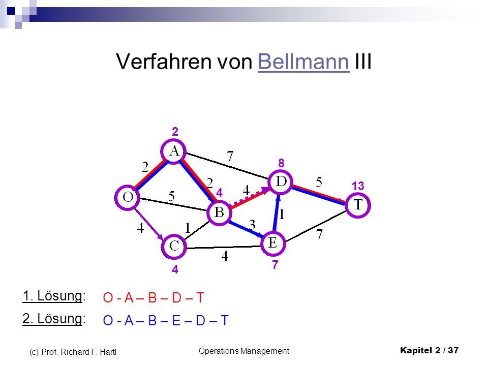 Verfahren von Bellmann III