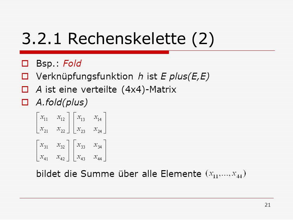 3.2.1 Rechenskelette (2) Bsp.: Fold