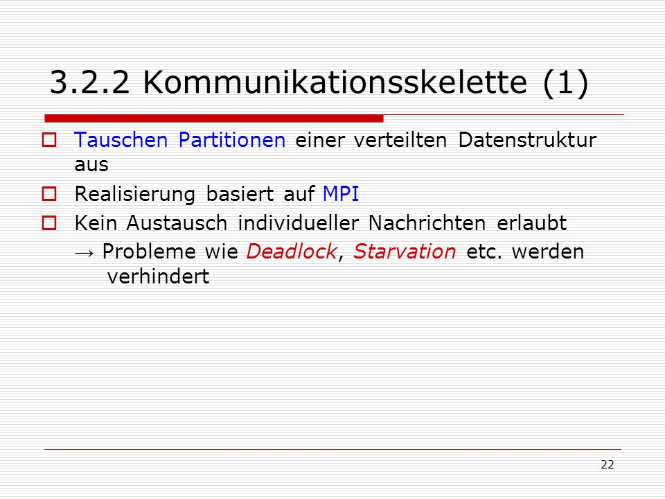 3.2.2 Kommunikationsskelette (1)