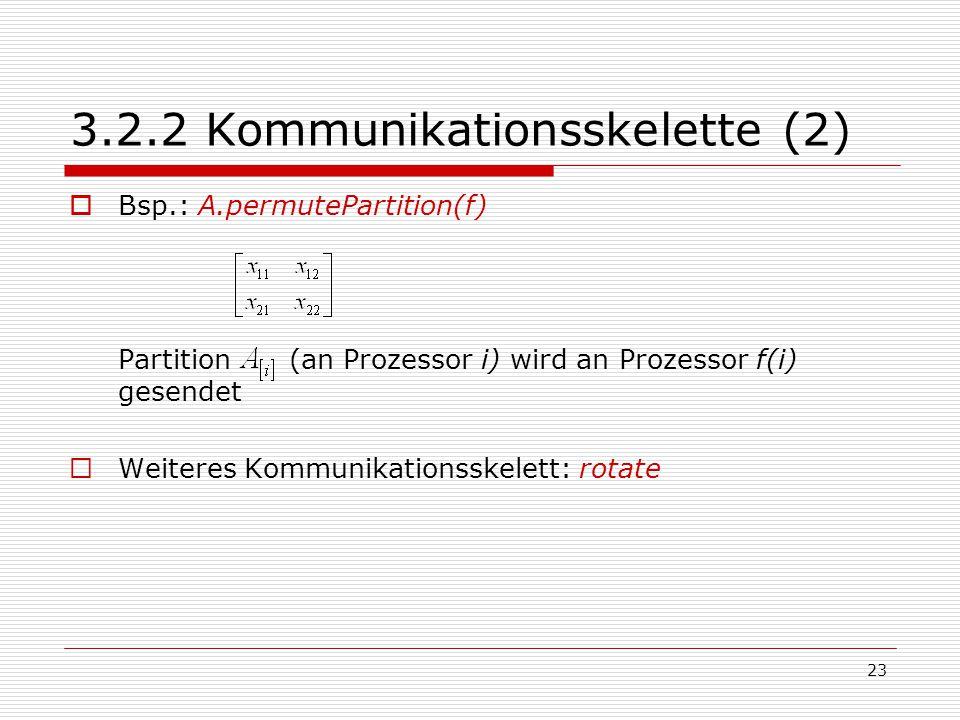 3.2.2 Kommunikationsskelette (2)