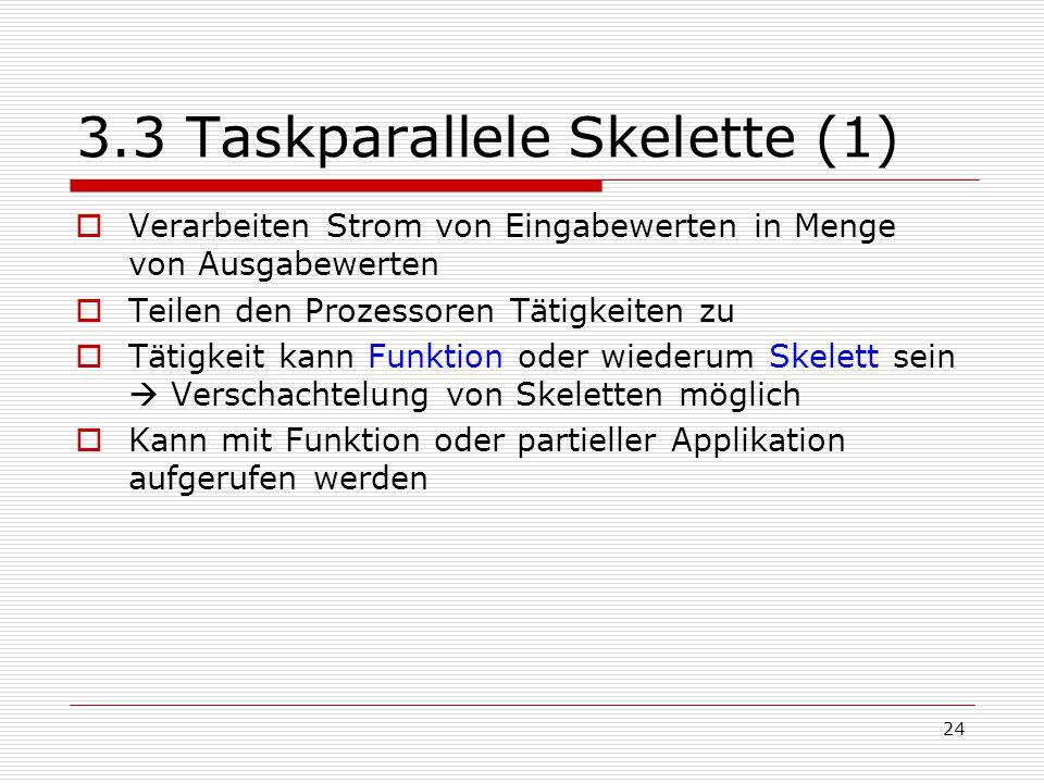 3.3 Taskparallele Skelette (1)