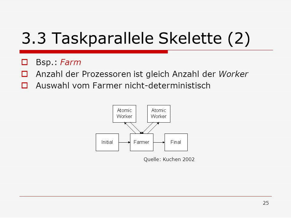 3.3 Taskparallele Skelette (2)