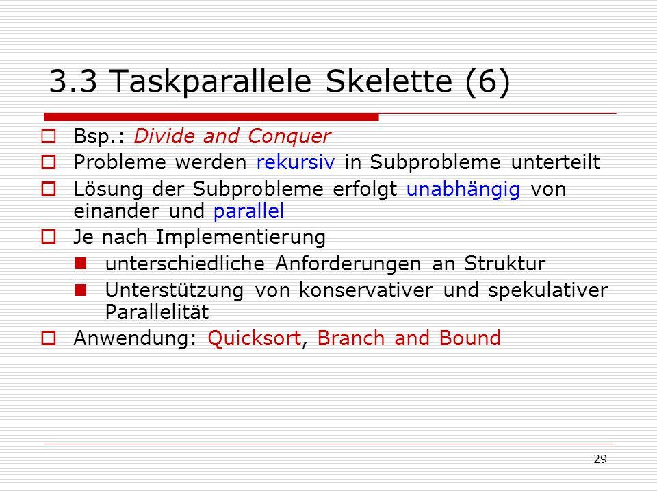3.3 Taskparallele Skelette (6)