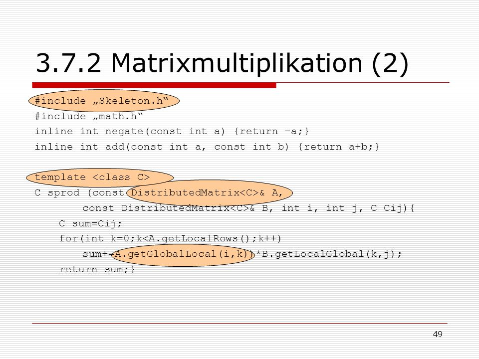 3.7.2 Matrixmultiplikation (2)