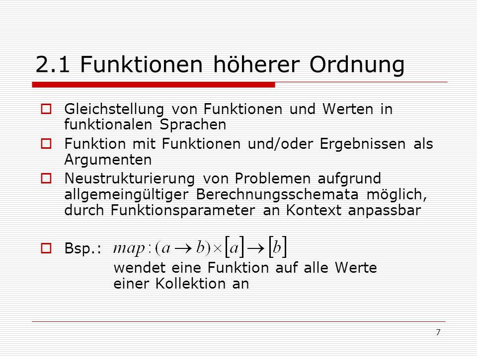 2.1 Funktionen höherer Ordnung