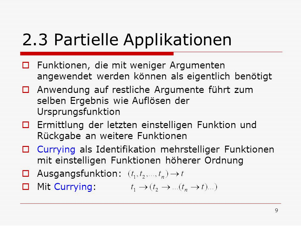 2.3 Partielle Applikationen
