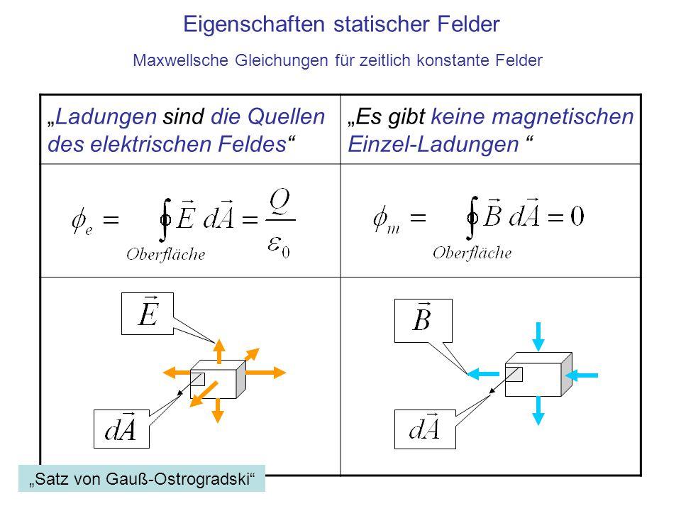 Eigenschaften statischer Felder