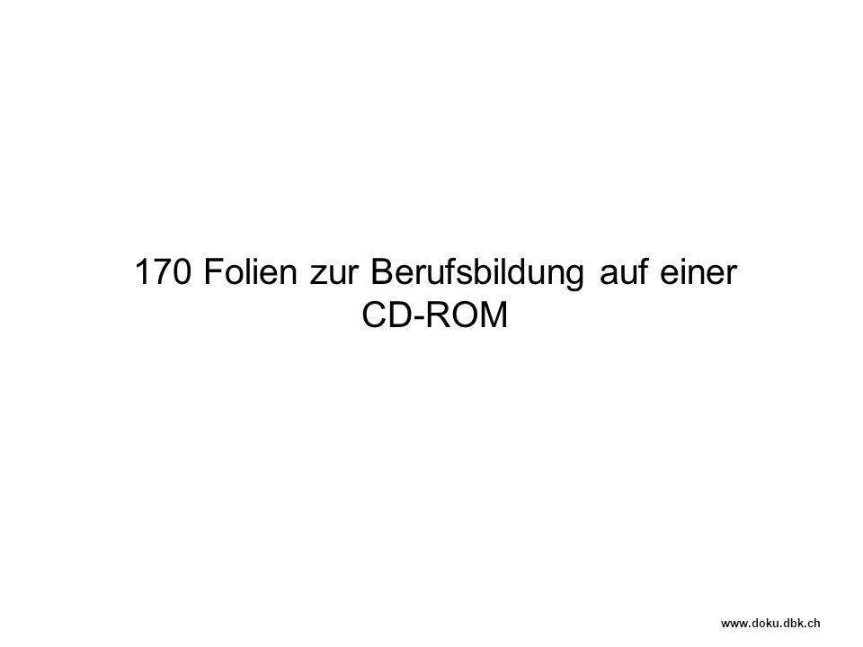 170 Folien zur Berufsbildung auf einer CD-ROM