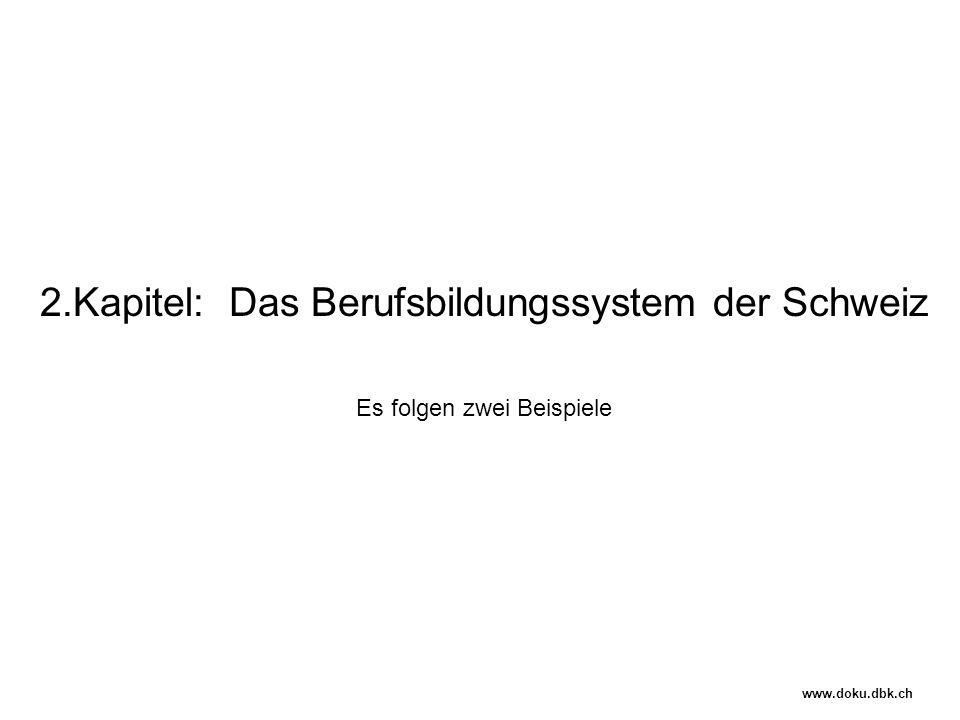 2.Kapitel: Das Berufsbildungssystem der Schweiz