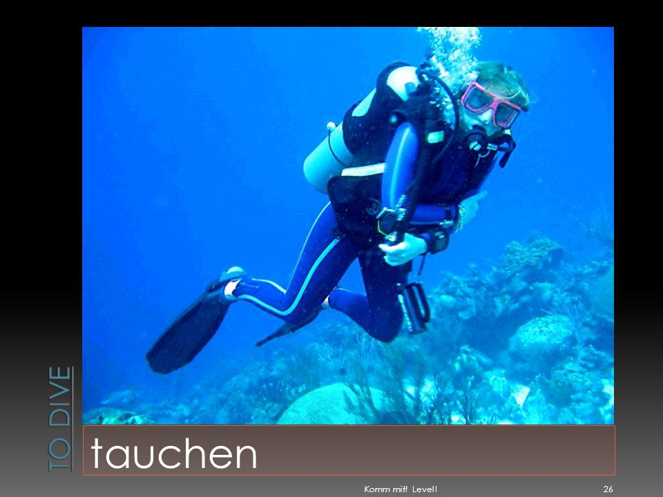 To dive tauchen Komm mit! Level I