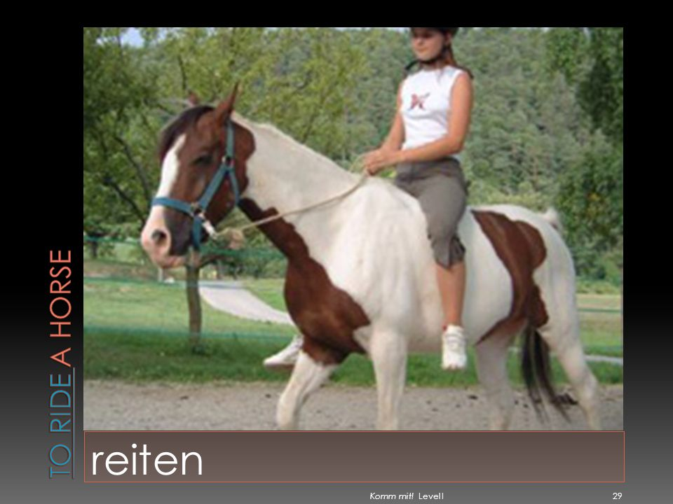 To ride a horse reiten Komm mit! Level I
