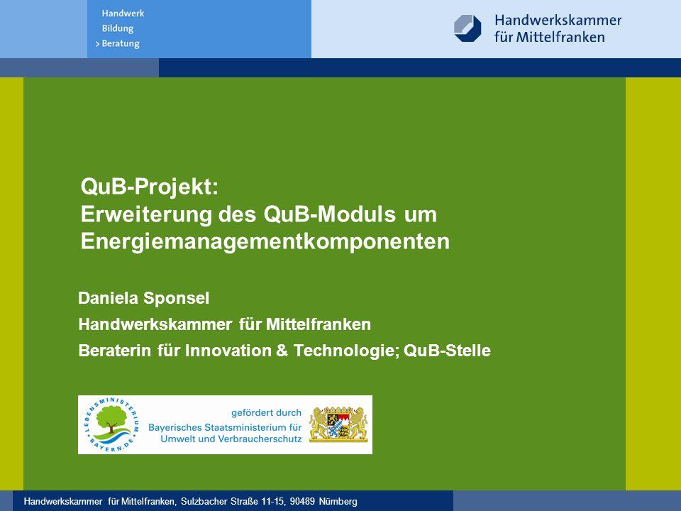 QuB-Projekt: Erweiterung des QuB-Moduls um Energiemanagementkomponenten