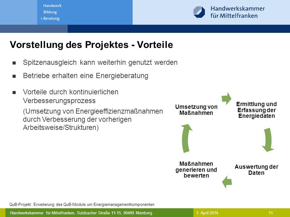 Vorstellung des Projektes - Vorteile