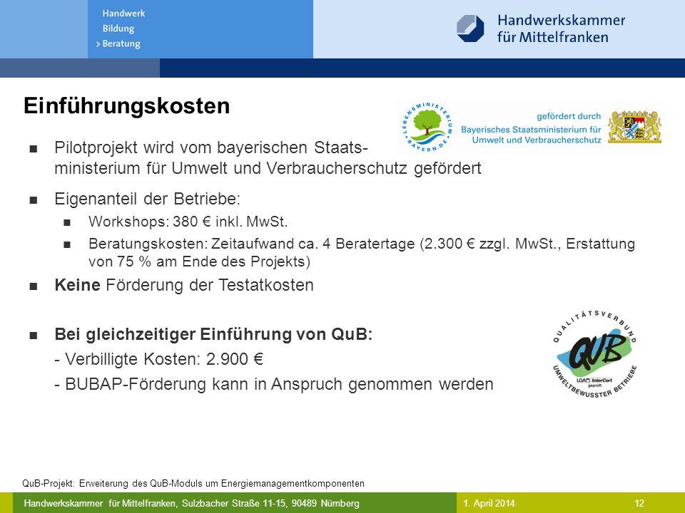 Einführungskosten Pilotprojekt wird vom bayerischen Staats-