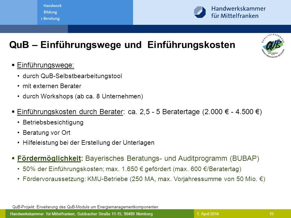 QuB – Einführungswege und Einführungskosten