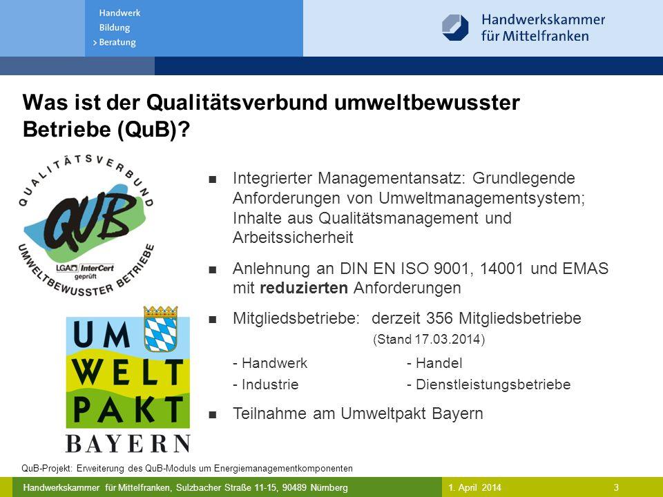 Was ist der Qualitätsverbund umweltbewusster Betriebe (QuB)