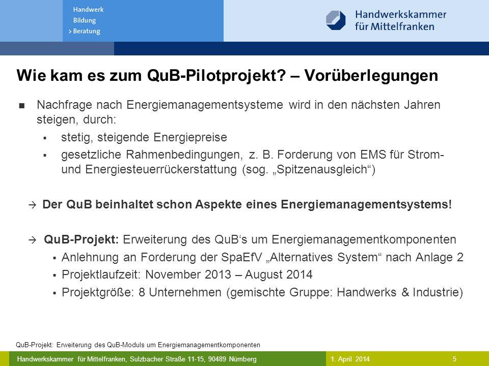 Wie kam es zum QuB-Pilotprojekt – Vorüberlegungen