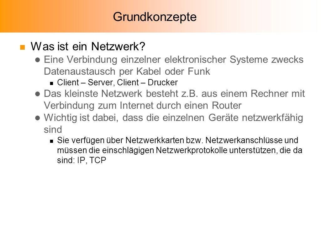 Grundkonzepte Was ist ein Netzwerk