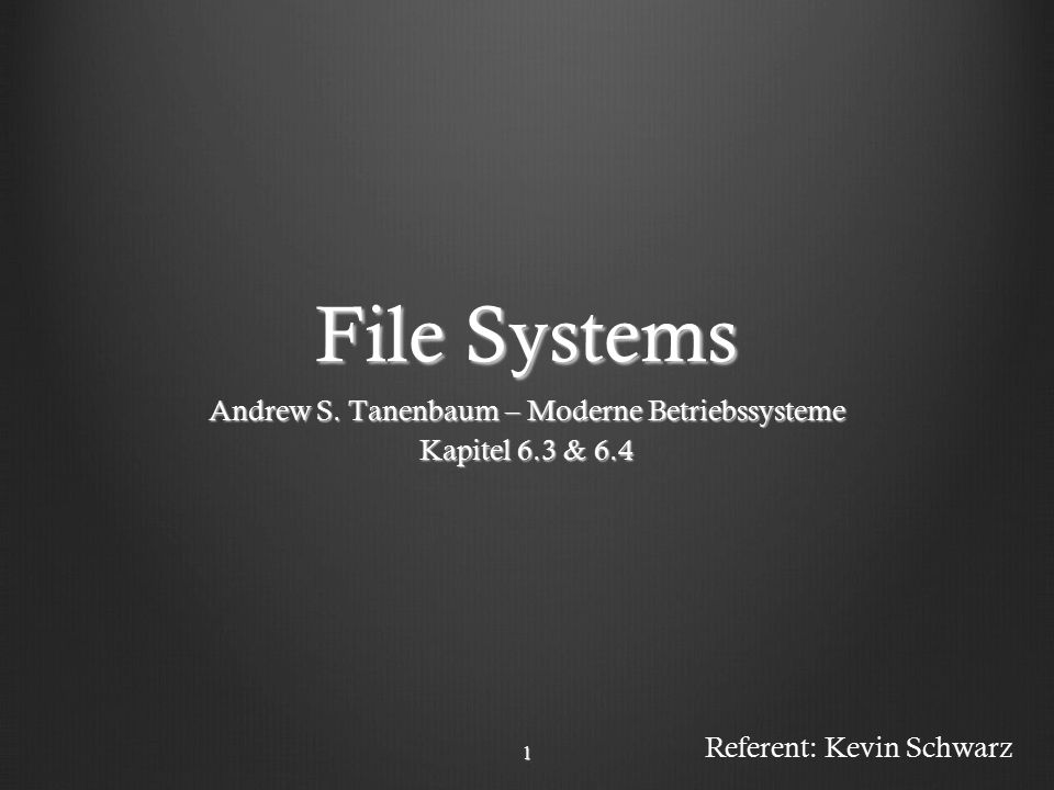 Andrew S. Tanenbaum – Moderne Betriebssysteme