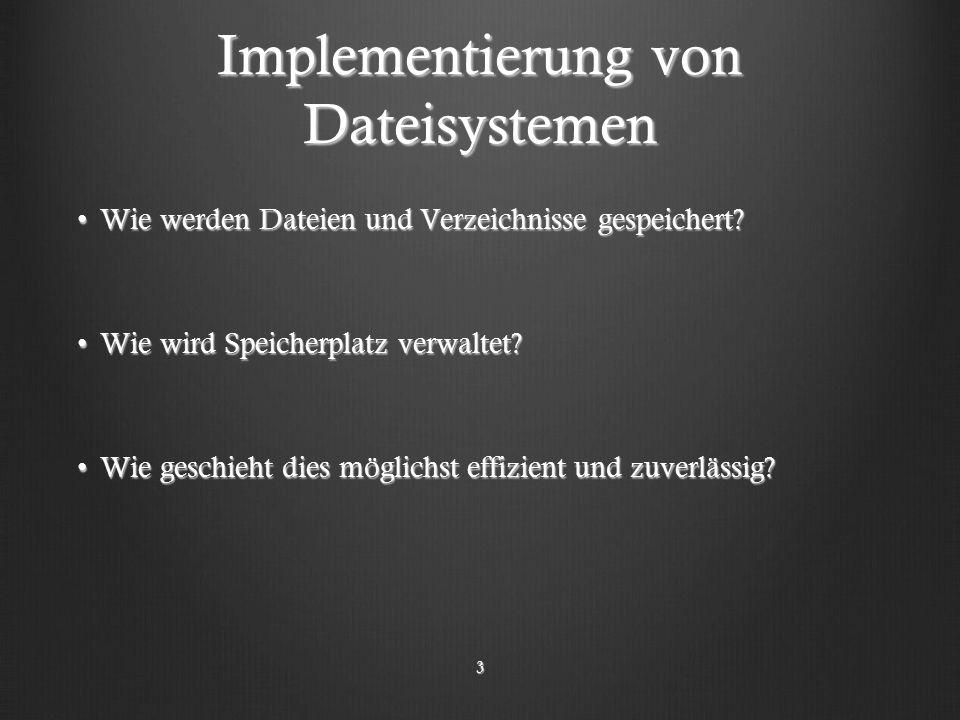 Implementierung von Dateisystemen