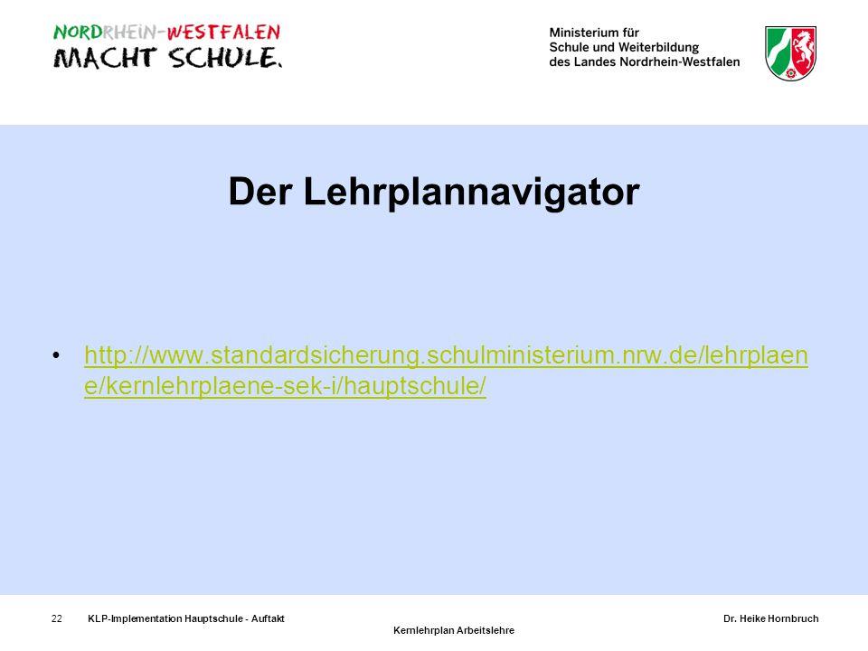 Der Lehrplannavigator