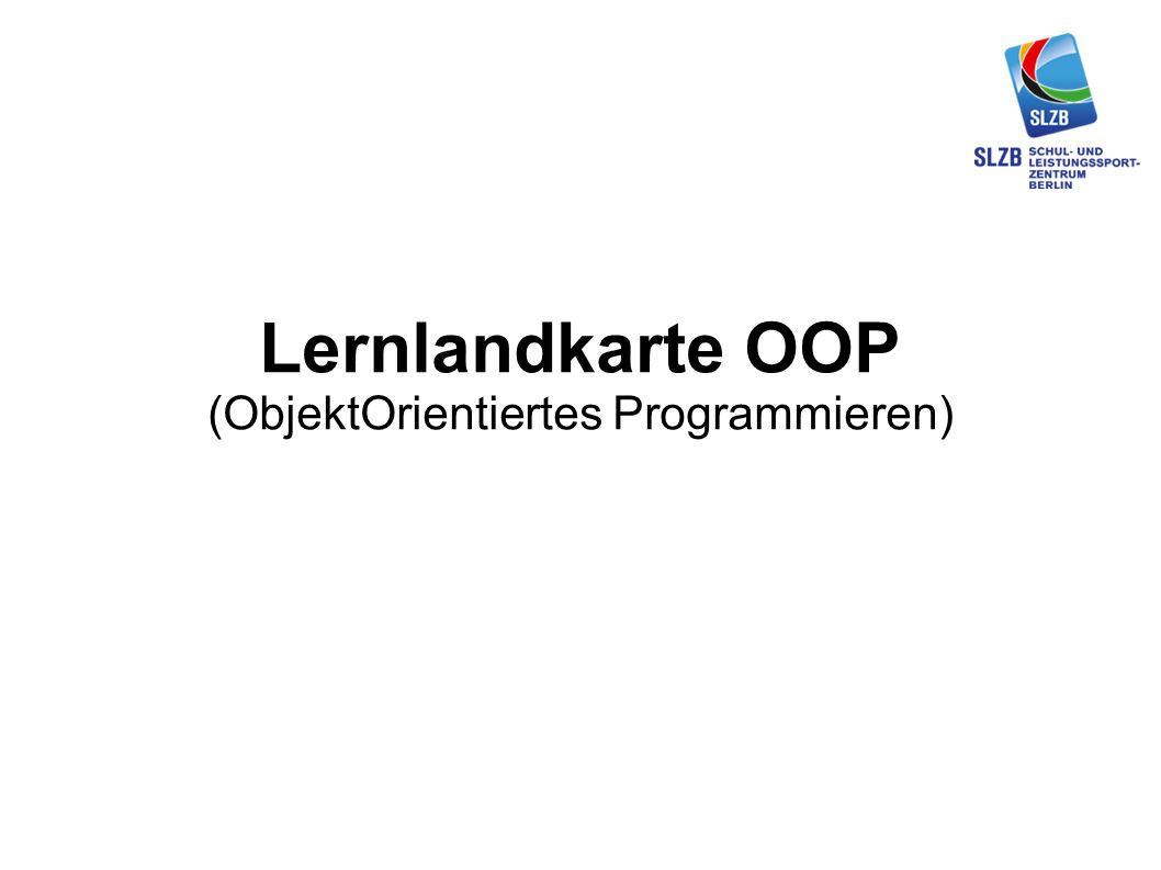 Lernlandkarte OOP (ObjektOrientiertes Programmieren)