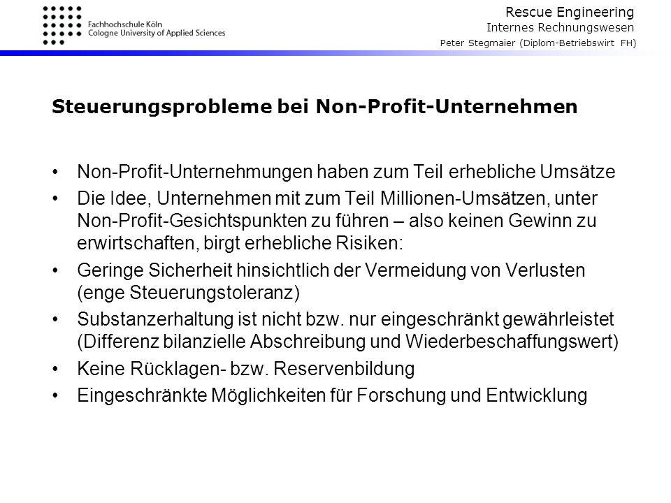 Steuerungsprobleme bei Non-Profit-Unternehmen