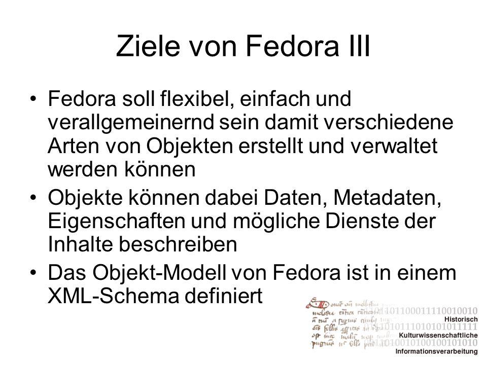 Ziele von Fedora III