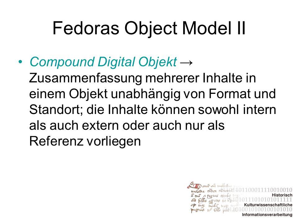 Fedoras Object Model II