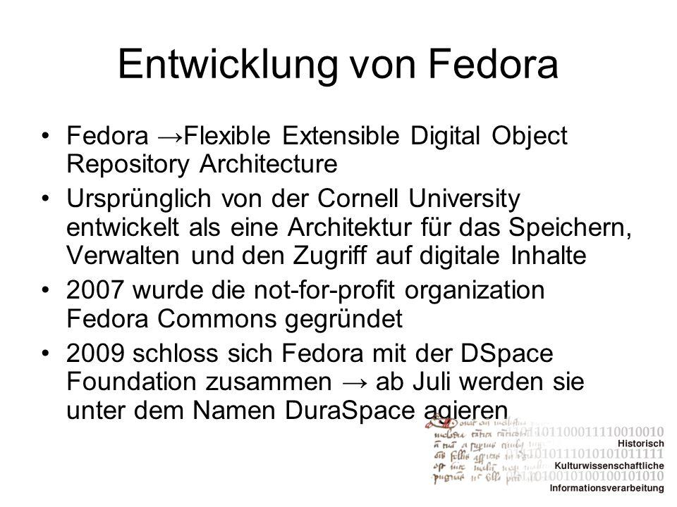 Entwicklung von Fedora