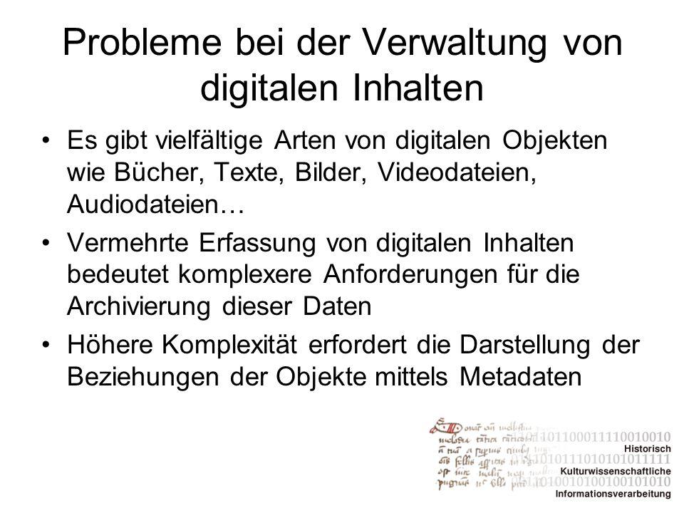 Probleme bei der Verwaltung von digitalen Inhalten