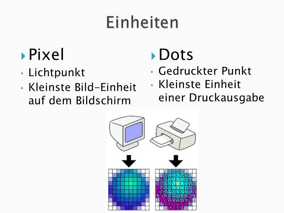 Einheiten Pixel Dots Lichtpunkt