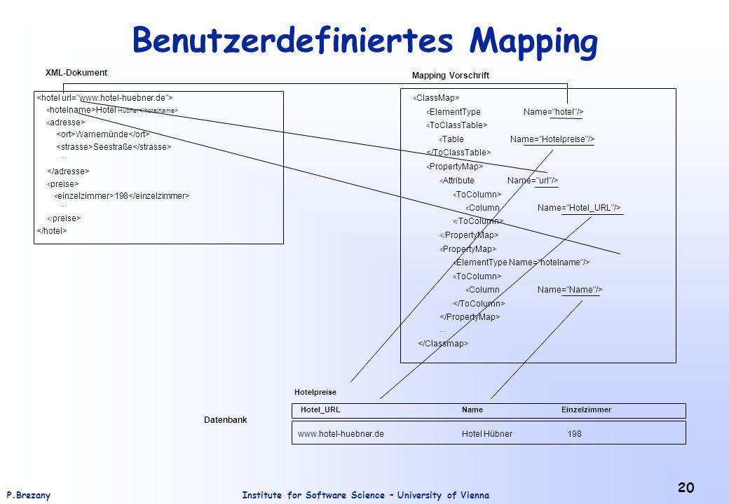 Benutzerdefiniertes Mapping