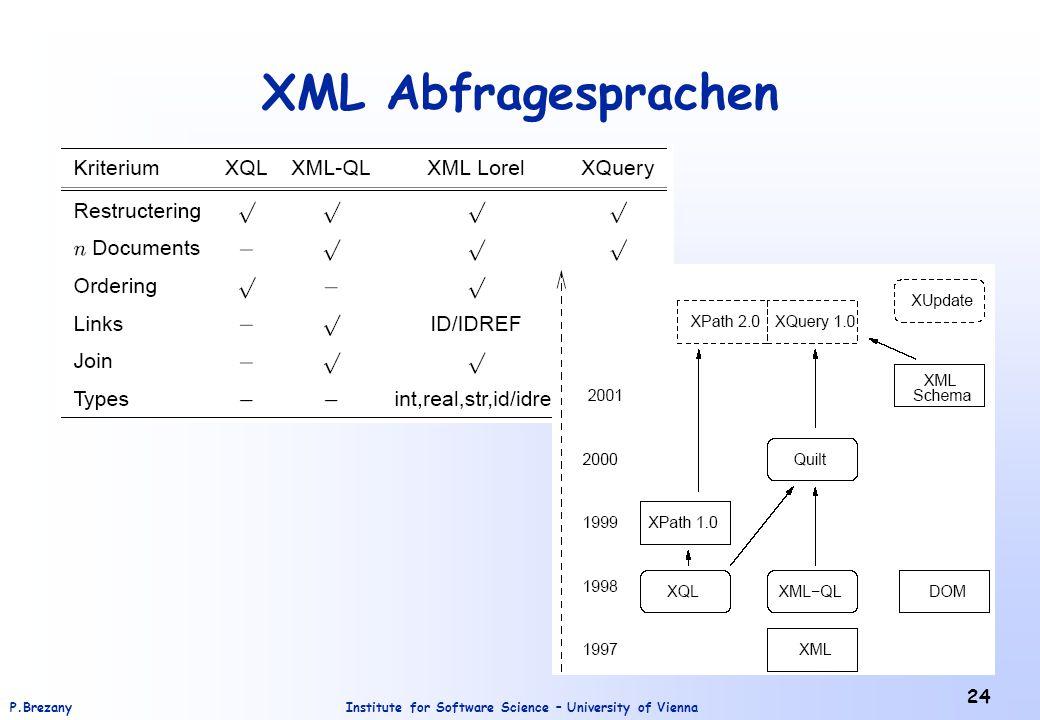 XML Abfragesprachen