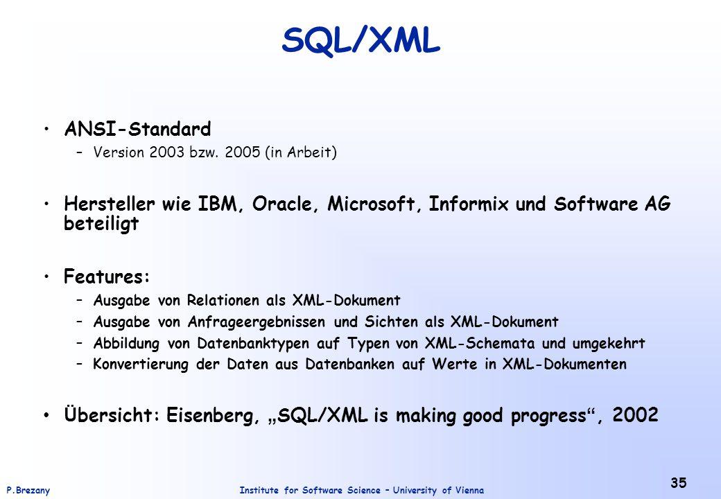 SQL/XML ANSI-Standard