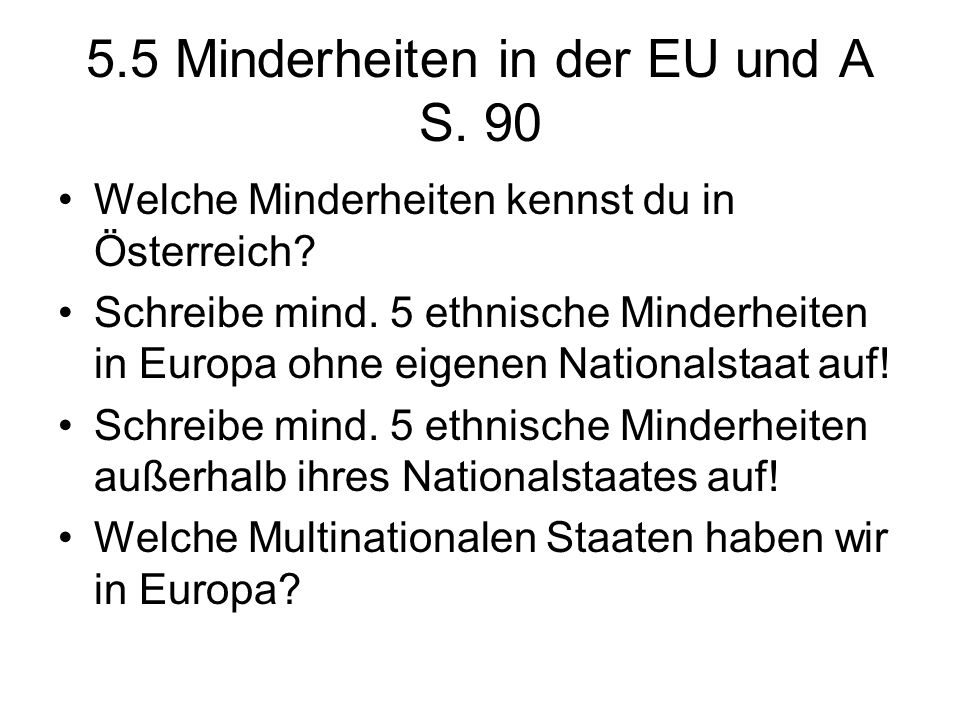 5.5 Minderheiten in der EU und A S. 90