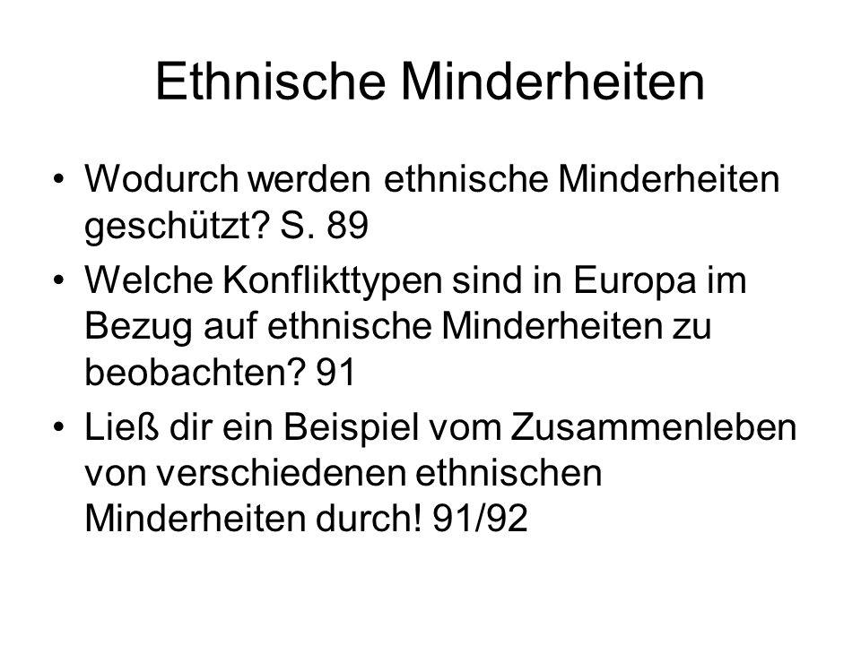 Ethnische Minderheiten