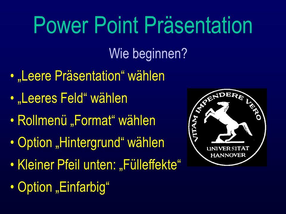 Power Point Präsentation