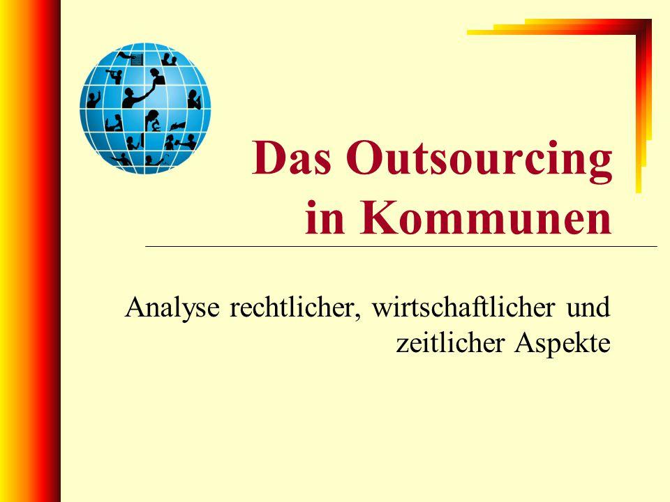 Das Outsourcing in Kommunen