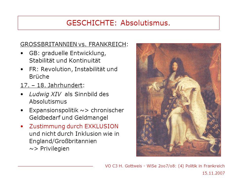 GESCHICHTE: Absolutismus.