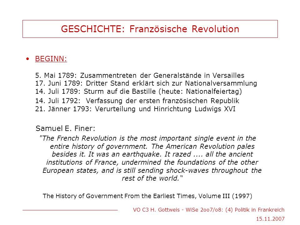 GESCHICHTE: Französische Revolution