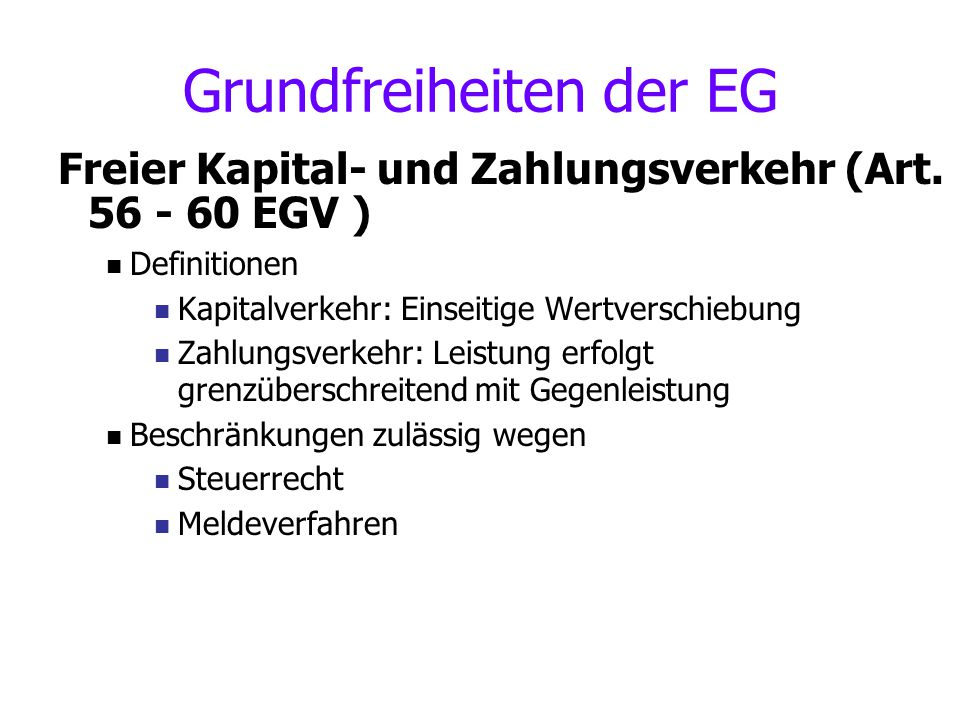 Grundfreiheiten der EG