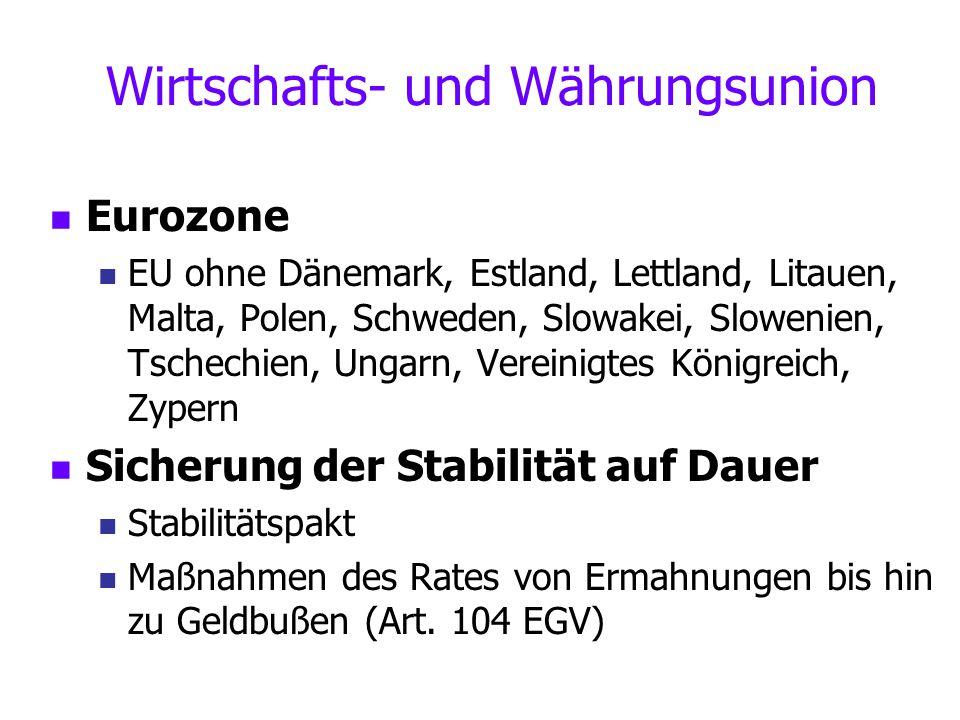 Wirtschafts- und Währungsunion