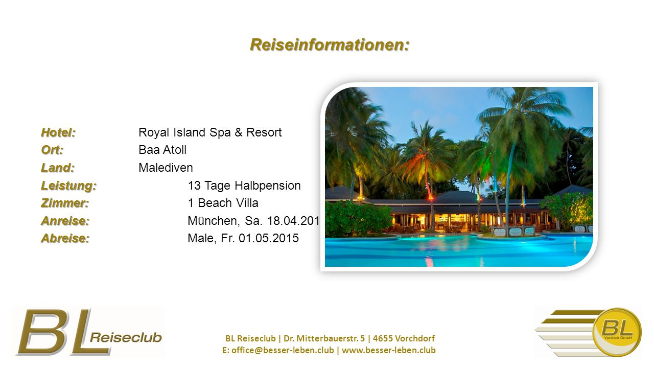 Reiseinformationen: