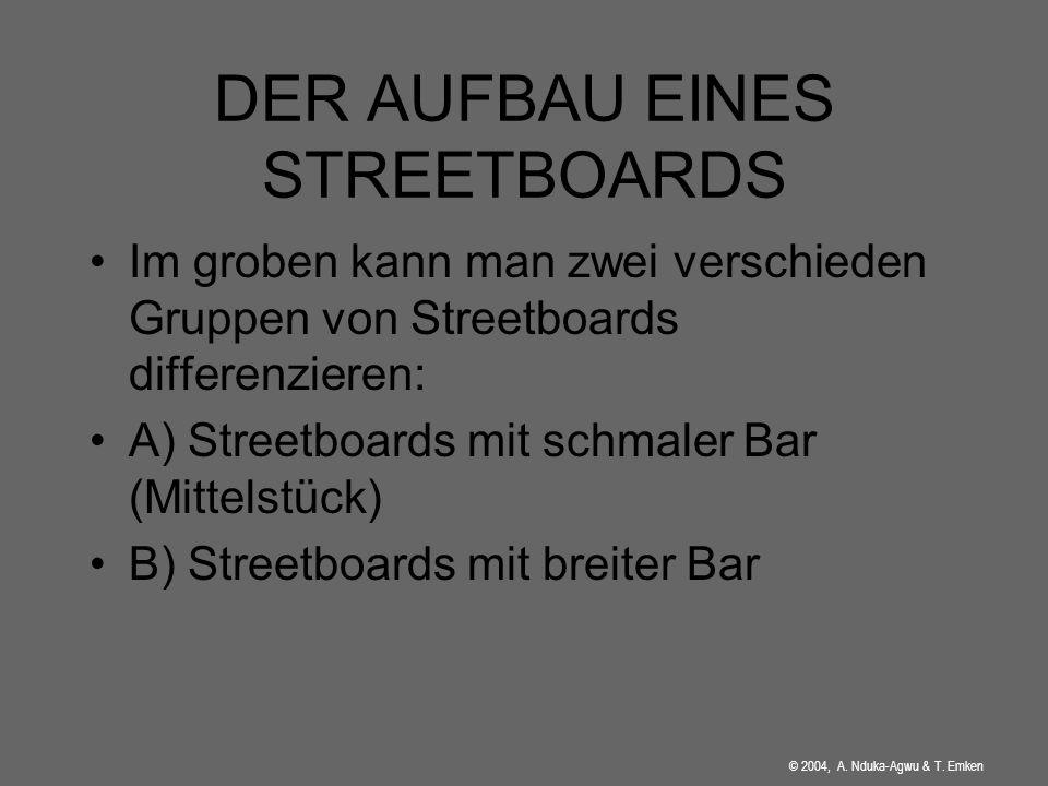 DER AUFBAU EINES STREETBOARDS