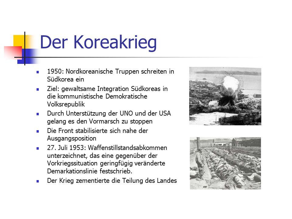 Der Koreakrieg 1950: Nordkoreanische Truppen schreiten in Südkorea ein