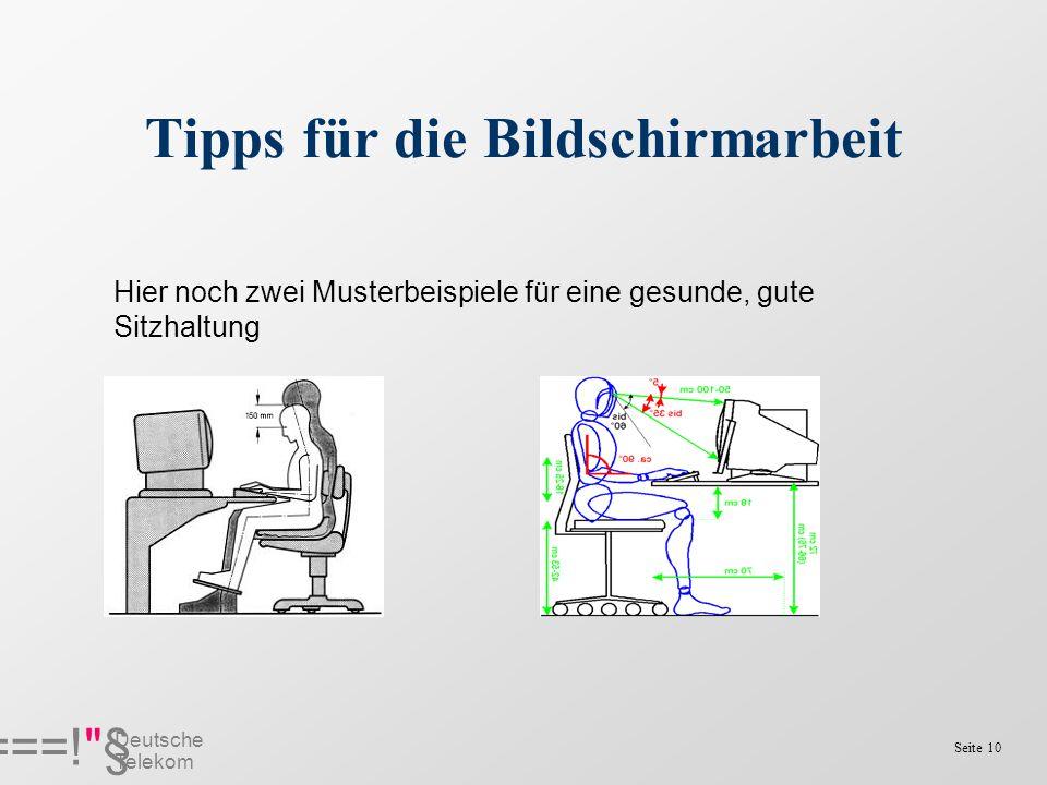 Tipps für die Bildschirmarbeit