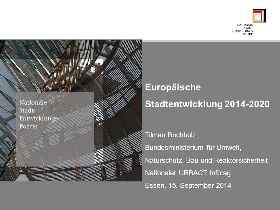 Europäische Stadtentwicklung 2014-2020